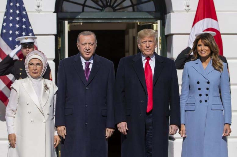 Donald Trump and Erdogan With Wife